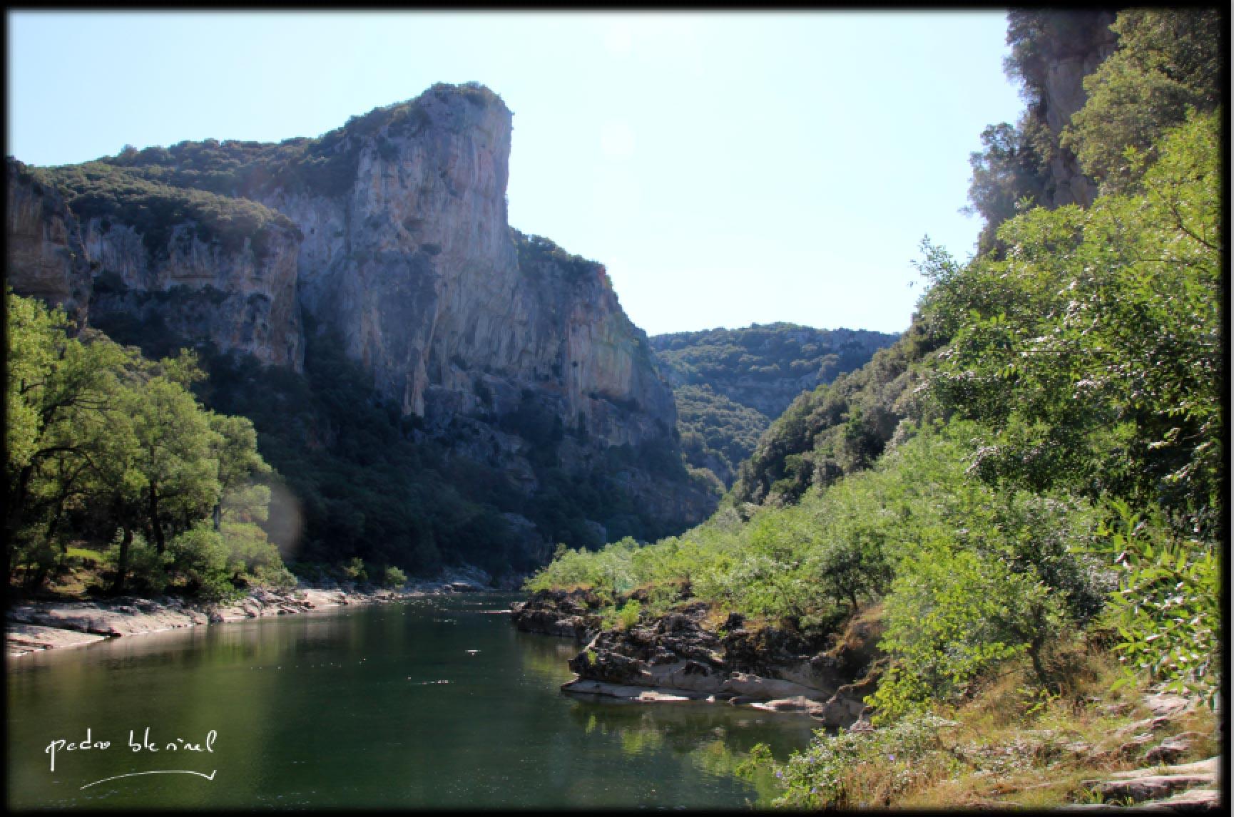 l'Ardèche, calme matinal