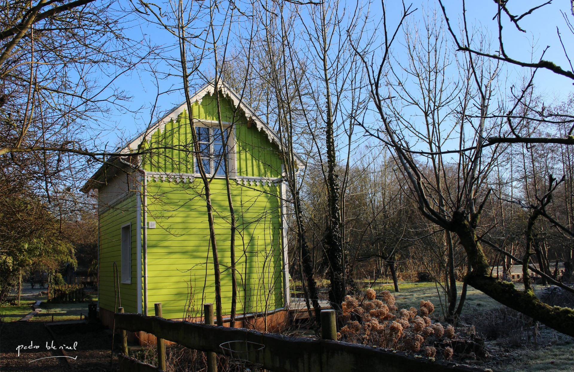 c'est une maison verte