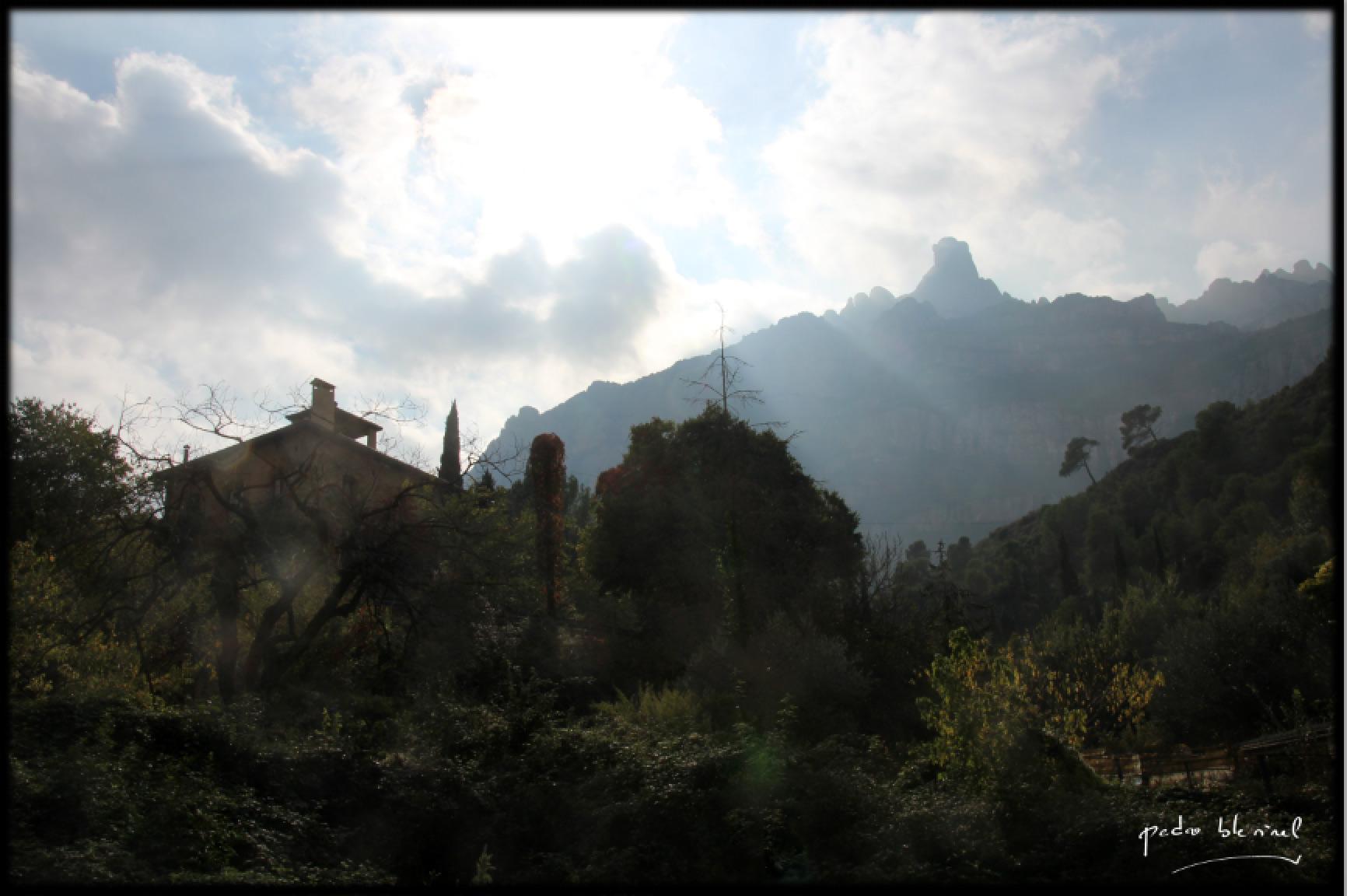 contre-jour à Montserrat