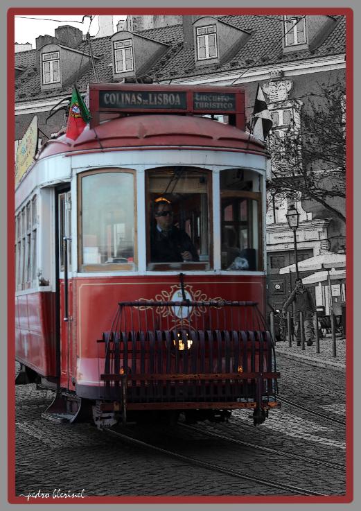 LISBONNE : tram rouge (12/01/17)