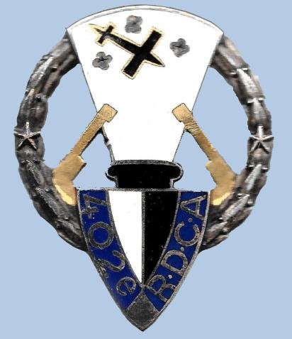 insigne du 402ème Rgt DCA Metz