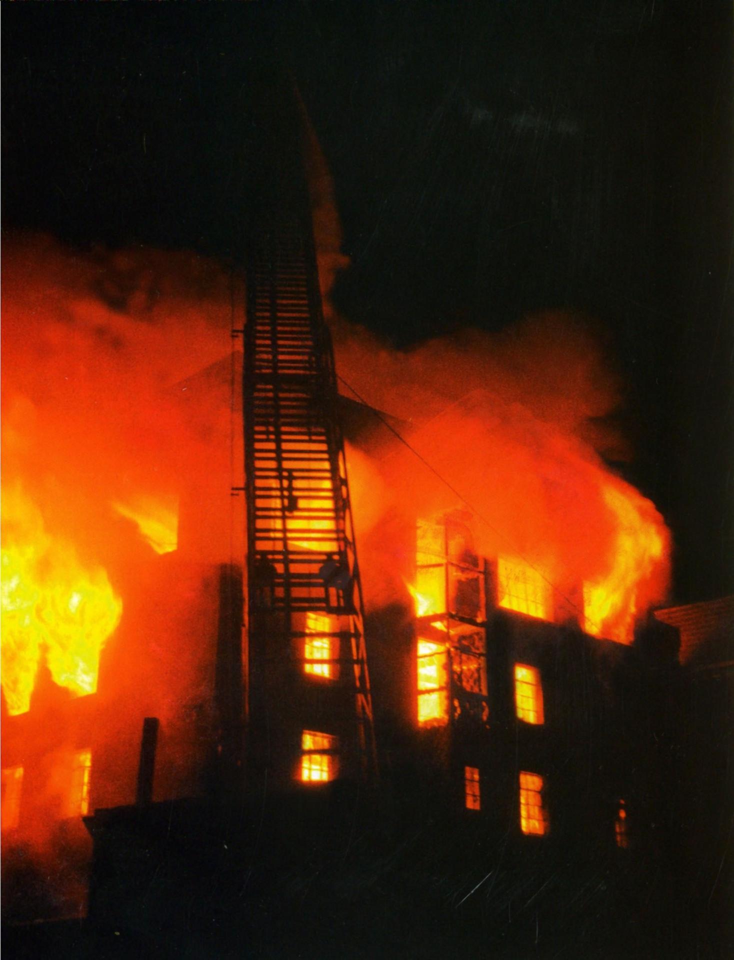Incendie moulin
