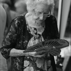 la dame à l'éventail