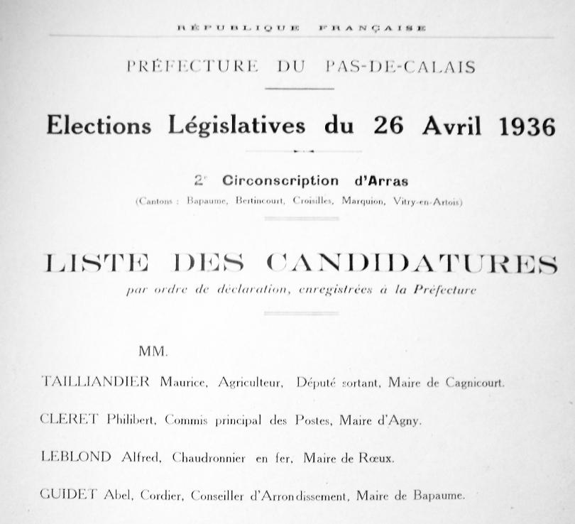 législatives de 36